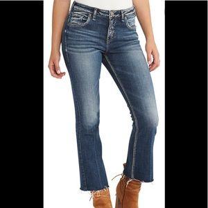 Silver Izzy Ankle Kicker Jeans